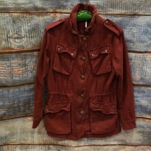 "Free People Maroon ""Not Your Brothers Jacket"" S/P!"